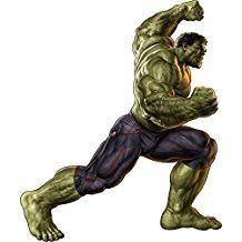 Hulk Wandtattoo  Wanddekoration für ein Superheldenzimmer  Aufkleber Kinderzimmer  Superheld  Marvel Comic