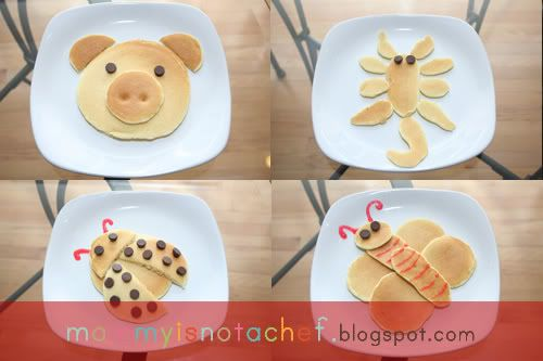 Mommy Is Not A Chef: Fun Animal Pancakes