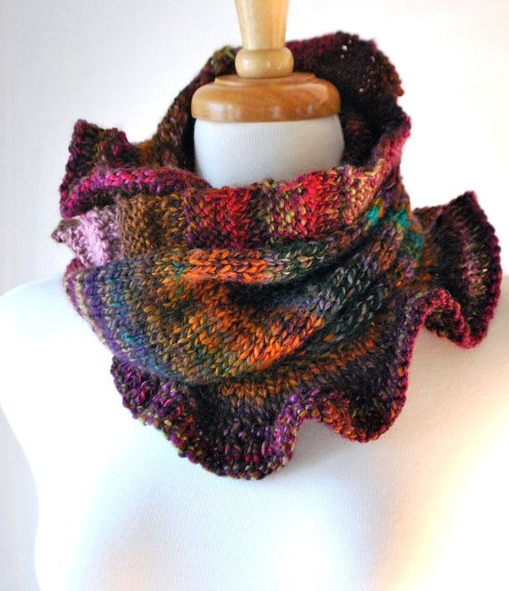 Knitting With Handspun Yarns Patterns : Knitting pattern pdf pullover moebius cowl quot rib and ruffle