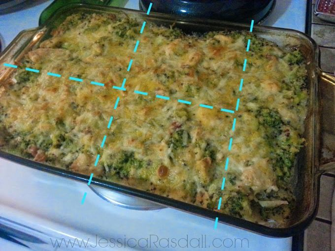 21 Day Fix Approved Casserole. Cheesy, Chicken, Broccoli and Quinoa Casserole. 21 Day Fix Cooking for the whole family.
