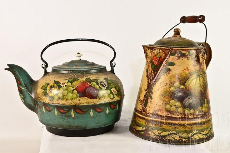 Painted Robert Berger Tea or Water Kettles