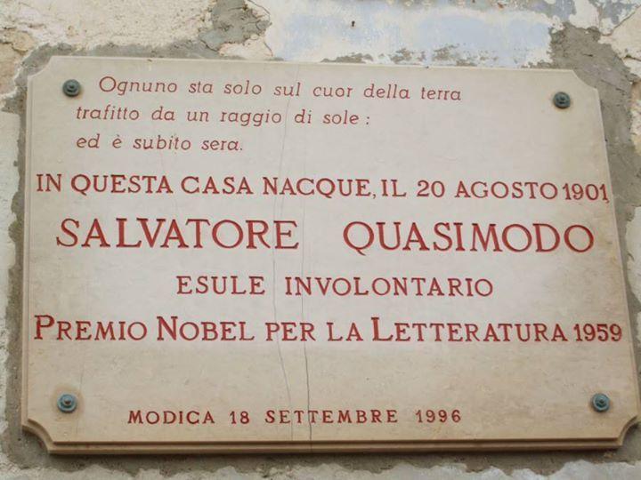 Casa di Salvatore Quasimodo a Modica (RG)