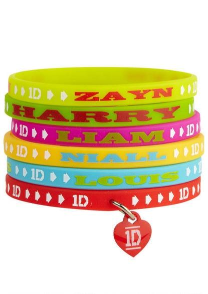 1D Gummy Band Bracelet Set