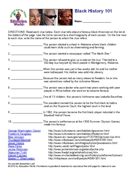 best ideas of black history worksheets for middle school also best best free printable worksheets. Black Bedroom Furniture Sets. Home Design Ideas