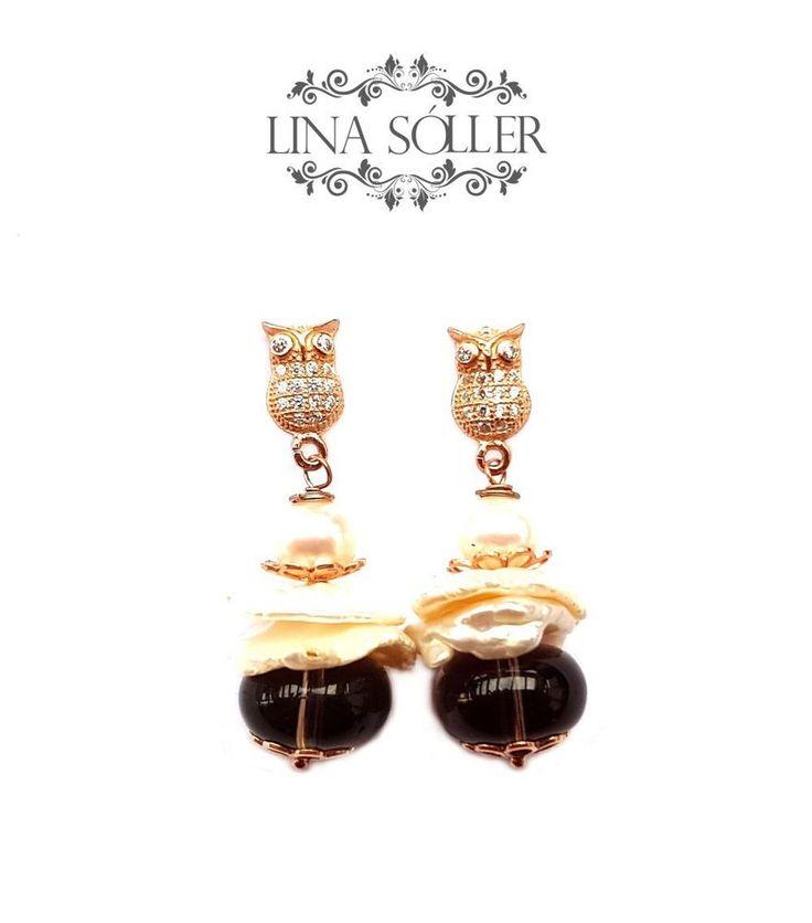 Lina Sóller, Ohrhänger, Ohrstecker mit Rauchquarz, Süßwasserperlen, 925 Silber in Uhren & Schmuck, Echtschmuck, Ohrschmuck   eBay!