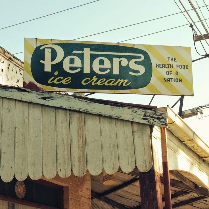 vintage peters icecream these signs arent around anymore...which is pretty sad...