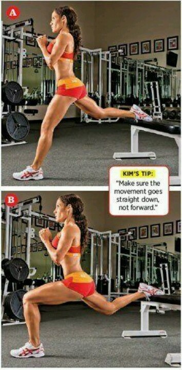 Bulgarian lunges. BOOM. BEST lunge variation for your hamstrings & glutes, legs, butt