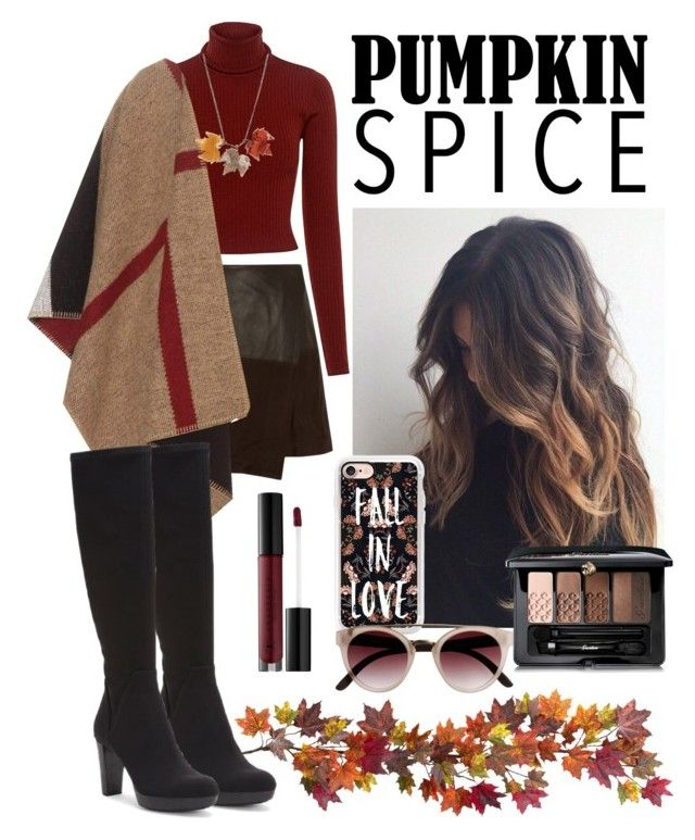 #Fall-look by xjihye on Polyvore featuring polyvore, fashion, style, A.L.C., Burberry, Alice + Olivia, Donald J Pliner, Any Old Iron, Casetify, Guerlain, Anastasia Beverly Hills, Nearly Natural and clothing