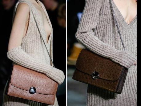 2014/2015 őszi és téli divat- Szőrös és puha anyagú táskák téglalap alakkal
