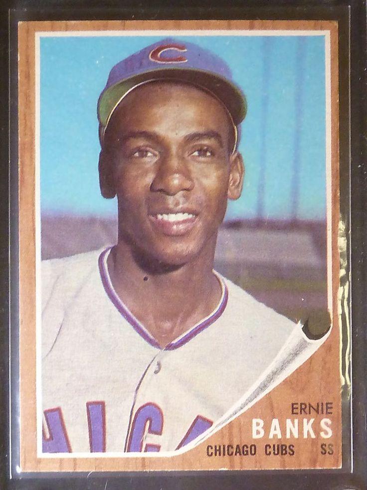 1962 topps baseball card 25 ernie banks chicago cubs hof