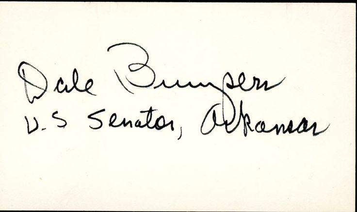 HistoryForSale - World War II Autographs GOVERNOR DALE BUMPERS
