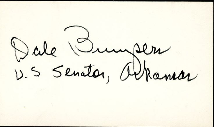 HistoryForSale - World War II Autographs GOVERNOR DALE BUMPERS