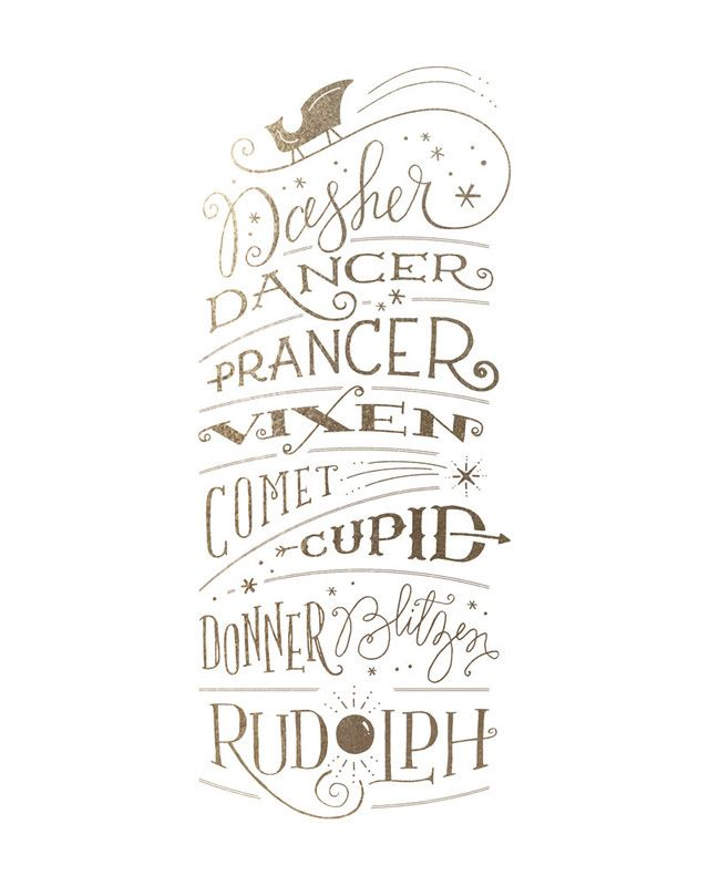 Reindeer Names by Jennifer Wick | Minted