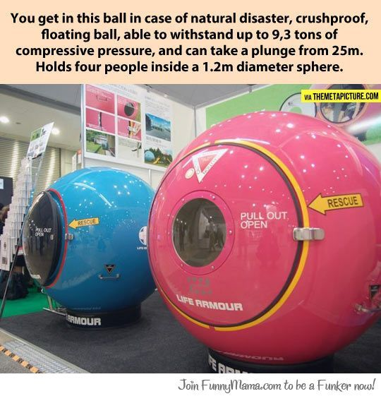 Amazing natural disaster protection ball...