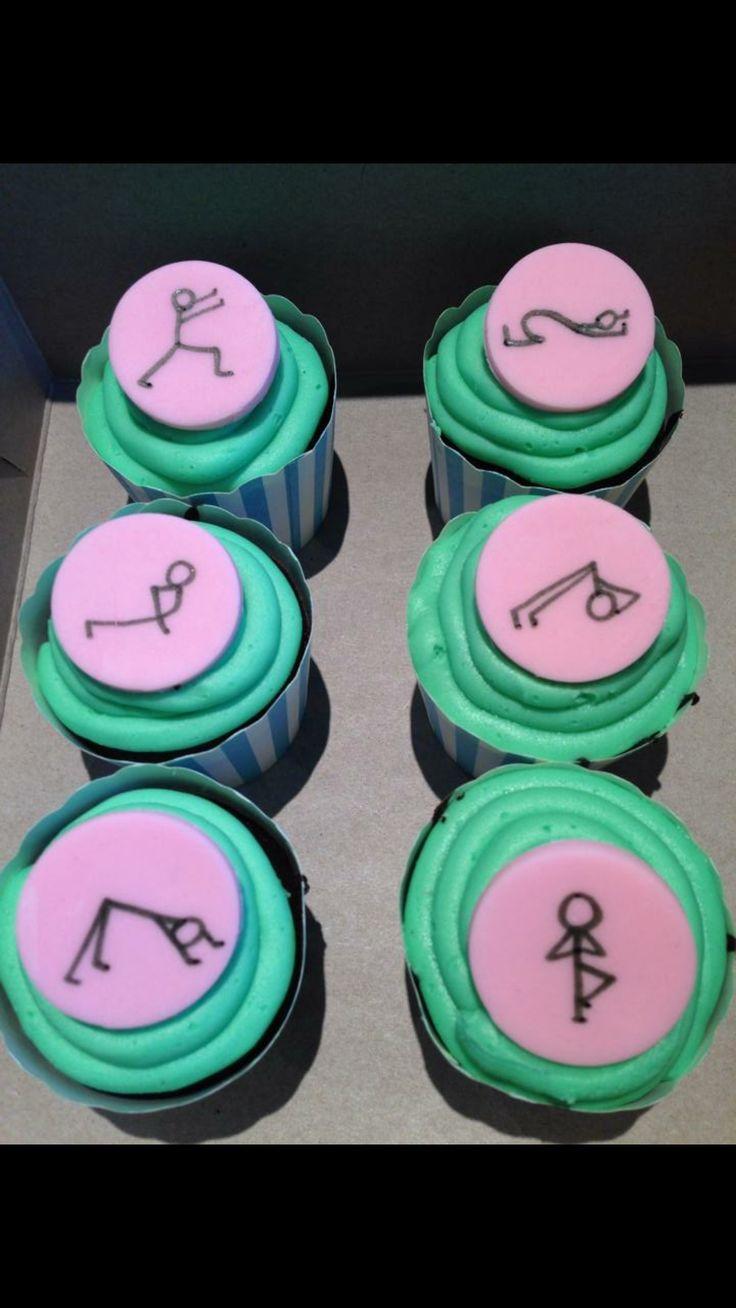 Yoga pose cupcakes