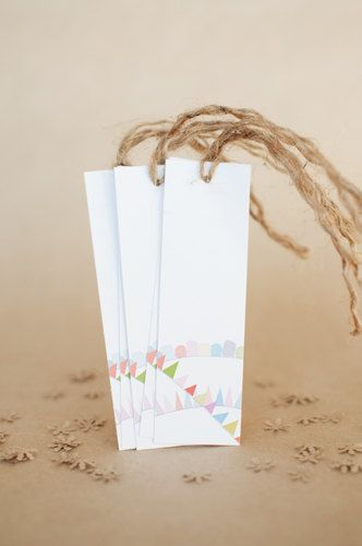 Hurray for Bunting   set of 5 swing tags by ToodlesNoodles on Etsy, $6.75