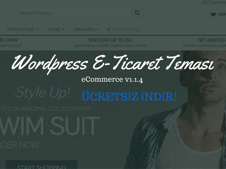 Wordpress e-ticaret teması ile sizde sanal mağazanızı kurabilirsiniz…