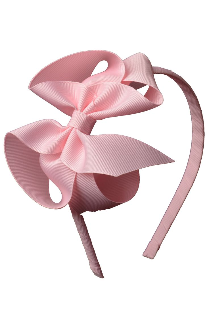 "1/4"" headband with 5"" Classic Bow attached. Headband is fully wrapped in grosgrain ribbon for a nice finished look."