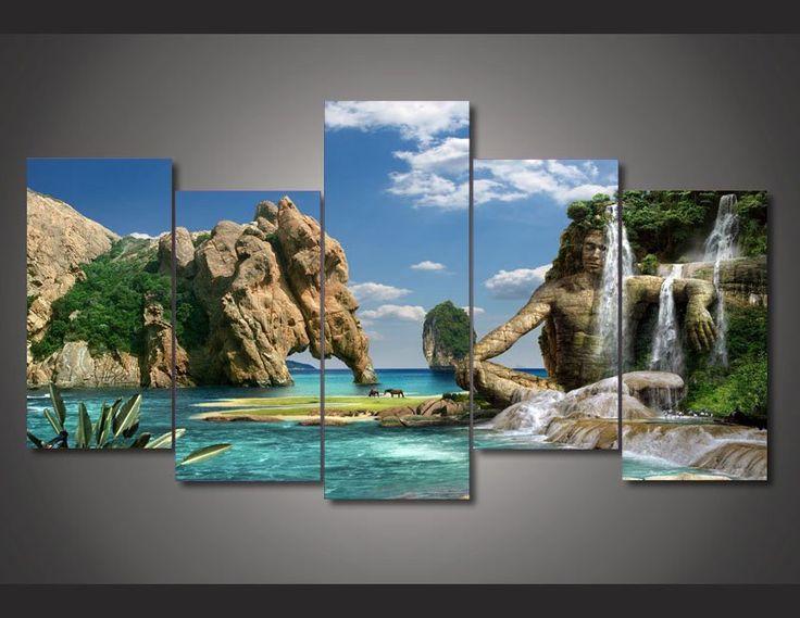 Lake Misurina 5 Piece Canvas Print – TC Discount Store