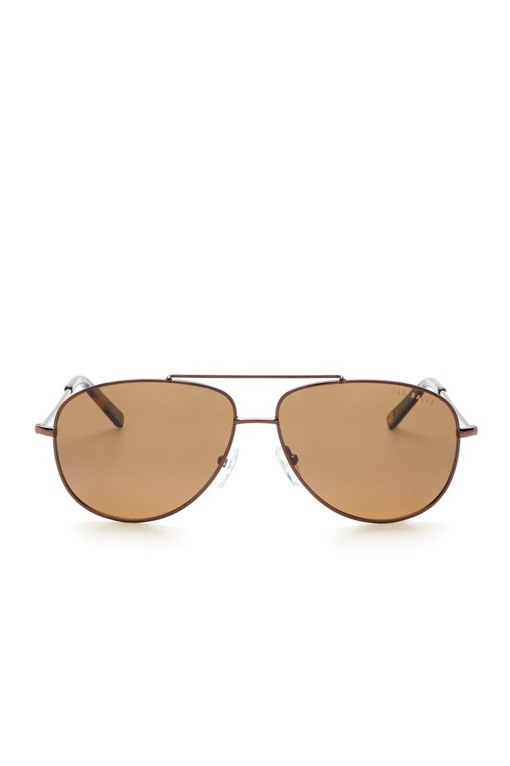 black and gold aviators e7ly  Men's Aviator Sunglasses by Ted Baker London on @nordstrom_rack