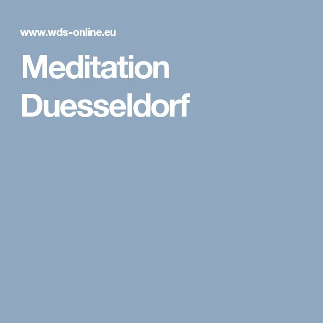 Meditation Duesseldorf