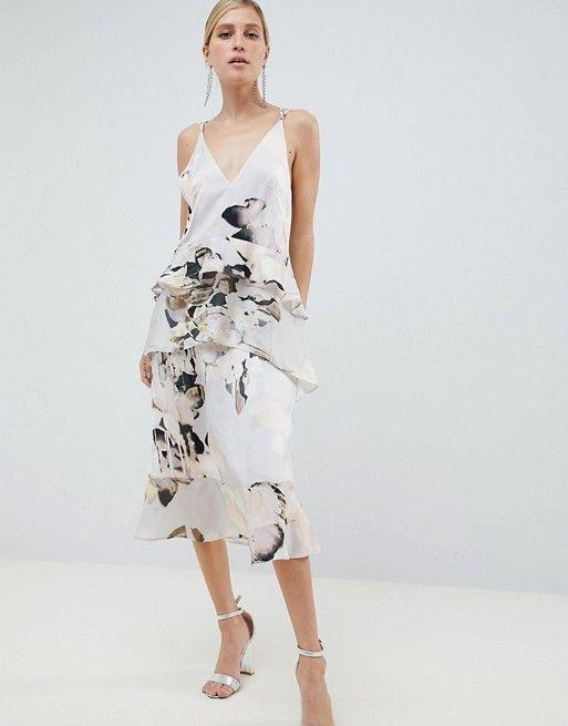 61ccad3941ba ASOS DESIGN   ASOS DESIGN floaty cami midi dress in blurred floral print