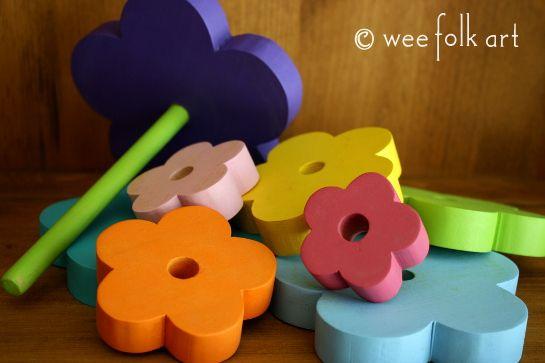 Wooden Flower Stacker | Wee Folk Art