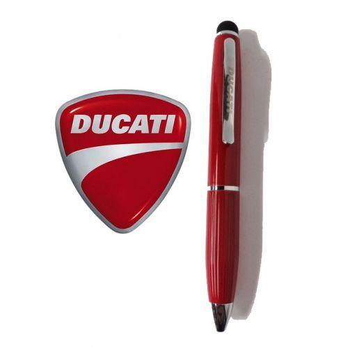 Ducati penna mini in acciaio a sfera touch con custodia - rossa -  Ducati touchpen