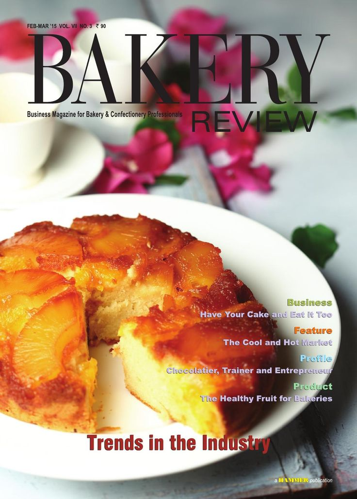 Bakery Review- ( Feb-March 2015)  In this issue, we have discussed some of the prevailing trends in the Indian bakery industry, which have the potential to change the industry in the near future. Business Story deals with home-based bakery operations. Lately a number of enterprising ladies have forayed into this business, across the nation. The cool and hot market for ice-creams in India along with the various happening trends in the organised ice-cream business in India are being explored…