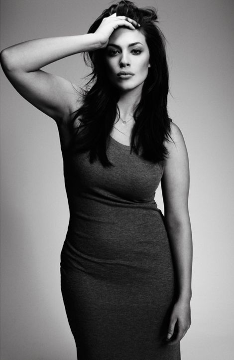 Ashley Graham -*Why do they have to call them plus-size models. This is obviously a beautiful woman who is not stick thin. I like it!