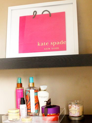 Justify your shopping splurge by turning the tote into a splashy work of art. #diy #frames #katespade