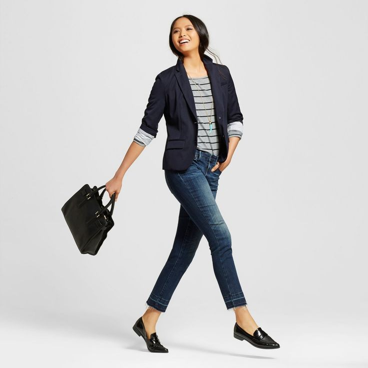 Women's Mid-rise Straight Leg Jeans Dark Wash 18S - Mossimo, Size: 18 Short, Blue