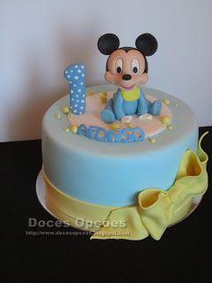 Doces Opções: O bebé Mickey no 1º aniversário do Afonso