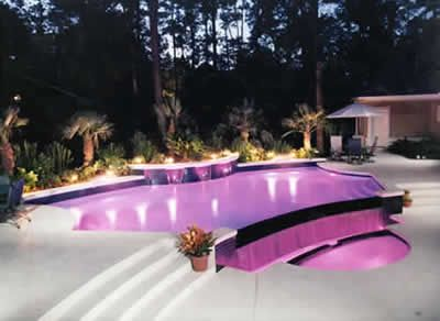 Purple pool my dream house - What do dreams about swimming pools mean ...