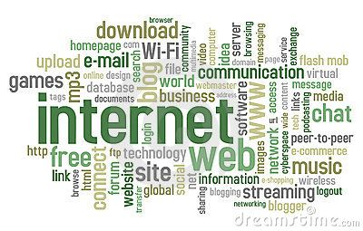 Vector Illustration about Internet Word Cloud