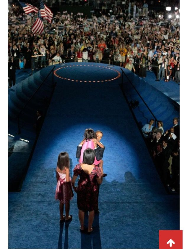 The Obama Family, August 8, 2008 Democratic National Convention: Day 4