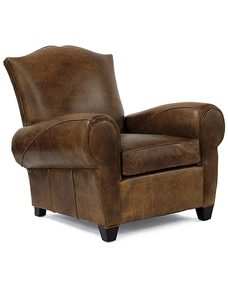 Bring Stately Style To Your Living Room Seating Group Or Den Ensemble With  This Handsome Leather Chair, Showcasing Oversized Rolled Arms And A Curved  Back.