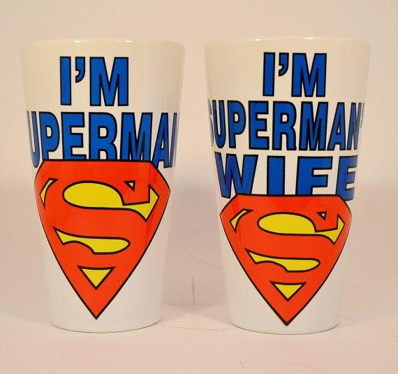 I'm superman and I'm superman's wife latte mug,superman mug,custom mugs,funny mugs,superman,wife gift,superman coffee mugs