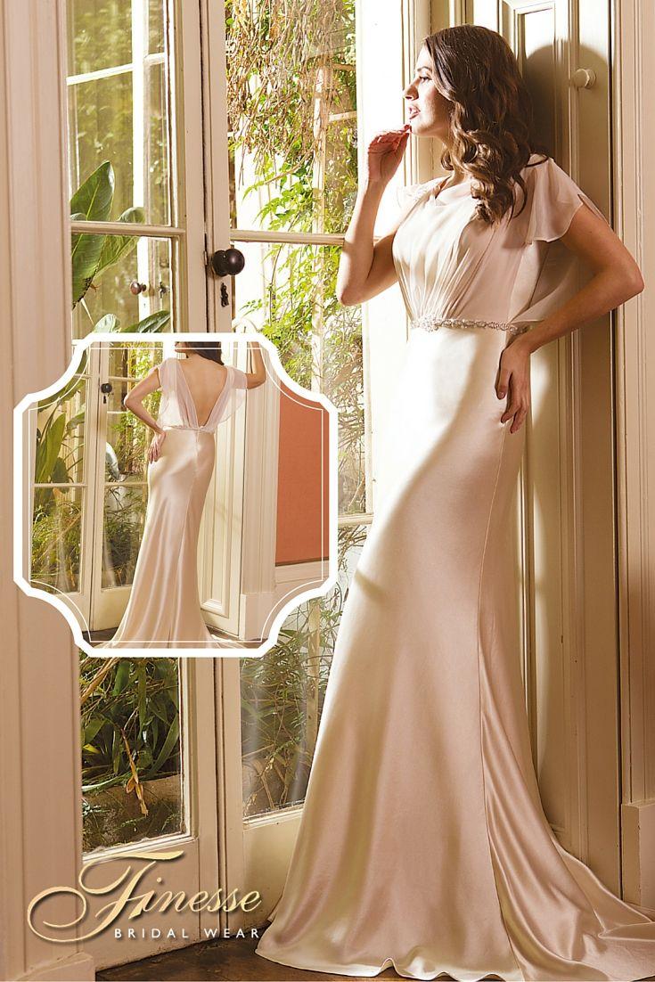 Flattering Slinky Wedding Dress from Finesse Bridal Wear in Listowel, Co Kerry #SlinkyWeddingDress #Flattering