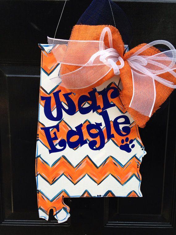 Auburn War Eagle Door hanger by PaintedPriss on Etsy, $35.00