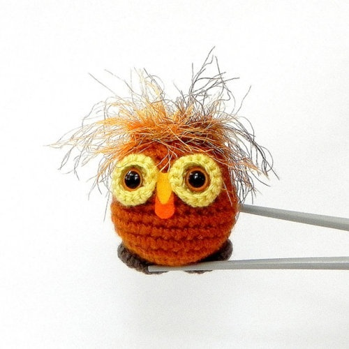 crazy hair owl!