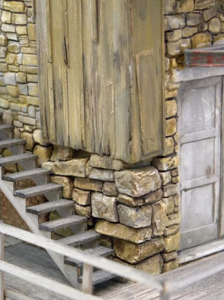 O scale Stone Building - Scratch Building & Kitbashing - Model Railroad…