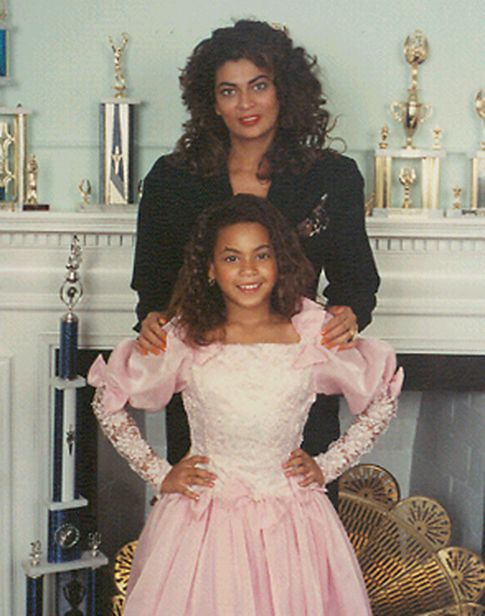 Tina Knowles and Beyonce...#throwback
