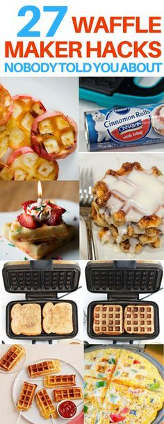 The BEST waffle iron hacks I have seen! These waffle iron recipes are so unique and brilliant. I love food hacks like these! Awesome dessert recipes, healthy snack ideas, and breakfast ideas I can't wait to try!