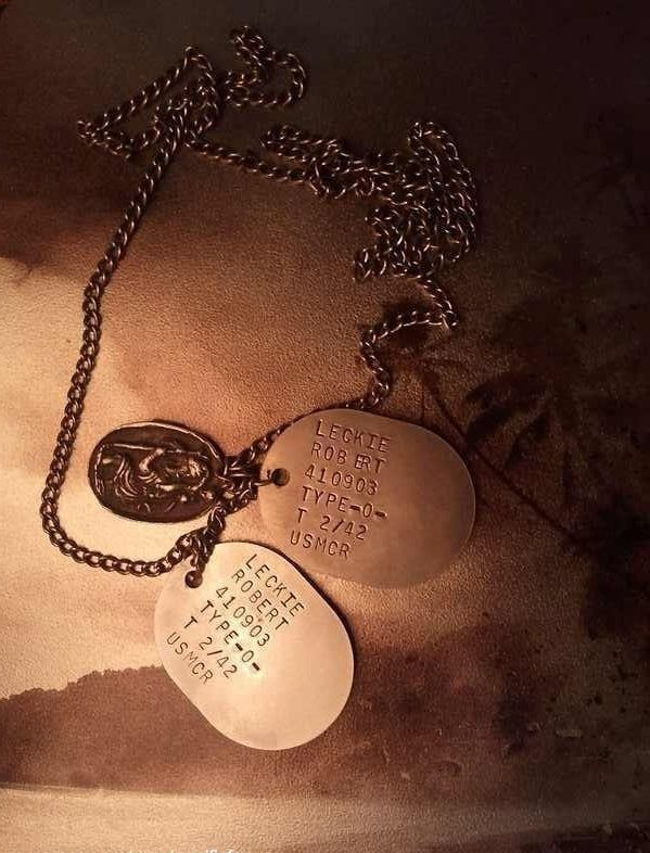 The Pacific (2010)  Robert Leckie's dog tags