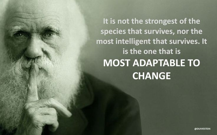 The famous quote by Charles Darwin quot It is not the strongest of the