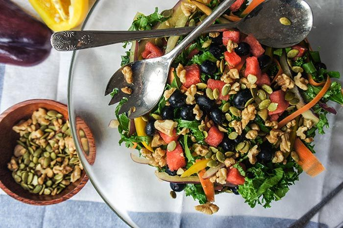 This summer superfood kale salad is not only seriously tasty, it also packs a hefty nutritional punch.