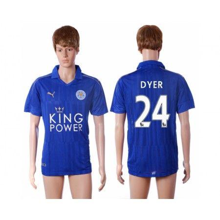 Leicester City 16-17 #Dyer 24 Hjemmebanetrøje Kort ærmer,208,58KR,shirtshopservice@gmail.com