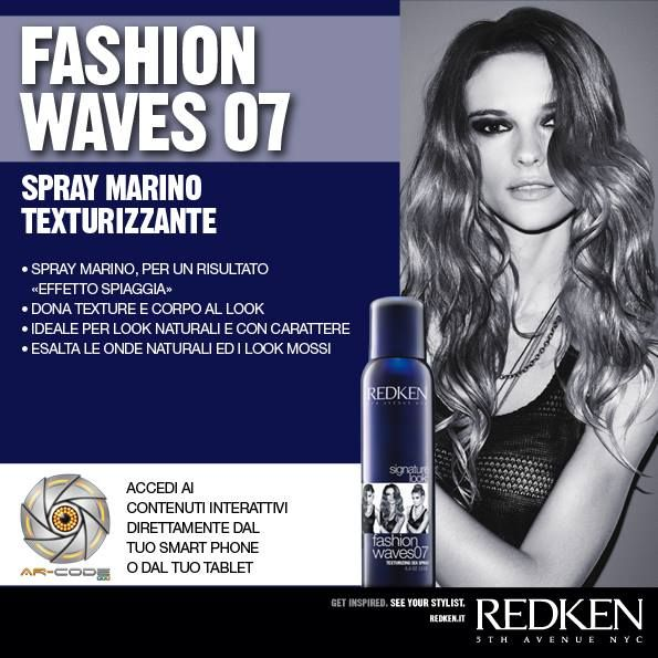 Redken Signature Look: Fashion Waves 07 - Frame the image to access the Redken world.