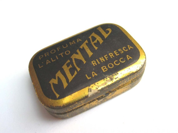 Vintage  Tin Box  Retro Mints Metal Box  rare by madlyvintage,
